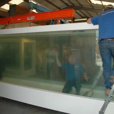 Large glazed display case