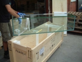 Packing glass cases