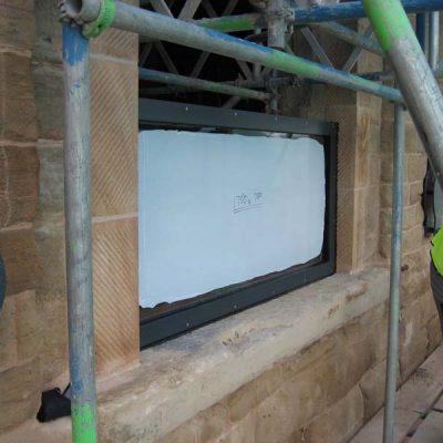 Flood defence frame and glazing system