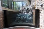 Native river waterfall display