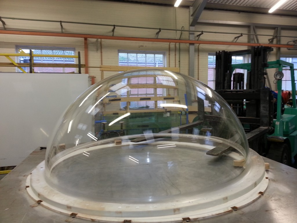 An acrylic dome manufactured by ATL
