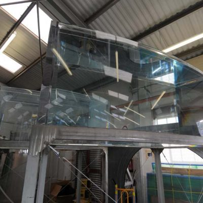 Fabricated acrylic displays