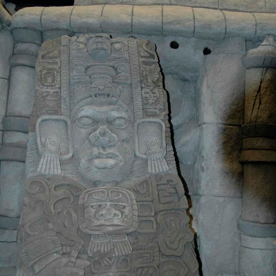 Sculpted aztec theme