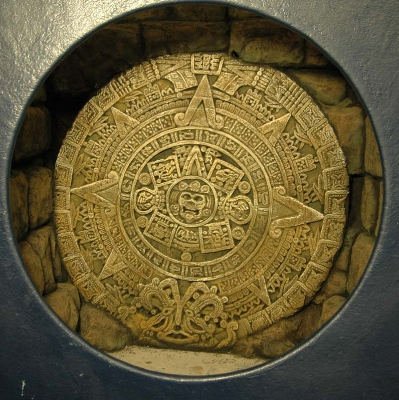 Sculpted aztec calender