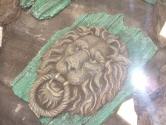 Replica lion emblem