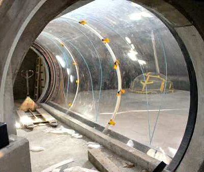 Hybrid tunnel under construction