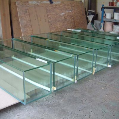 Multiple all glass cases
