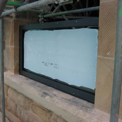 Flood defence frame and glazing system
