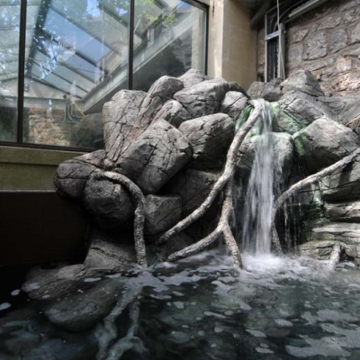 Native river waterfall display