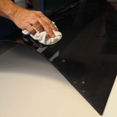 Machine guard polishing