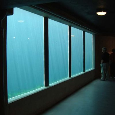 Viewing panels, large aquariums, swimming pool/ pond glazing/windows