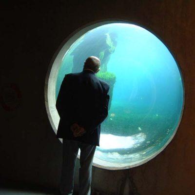 Ocean hemisphere view