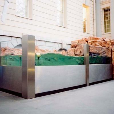 Public atrium wave display