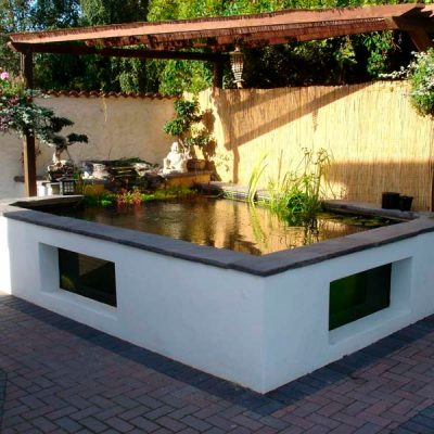 Above ground glazed pond