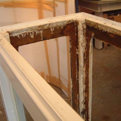 Display case before refurbishment