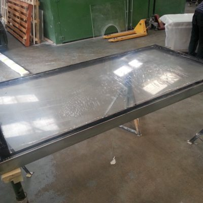 Framed pool panel