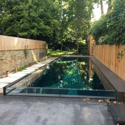 pool edge glazing